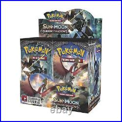 10 BURNING SHADOWS Booster Pack Lot Factory Sealed From Box Pokemon Cards