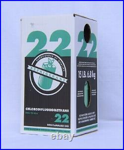 15 lb lbs R22 Refrigerant Factory Sealed Made in USA Same Day Shipping