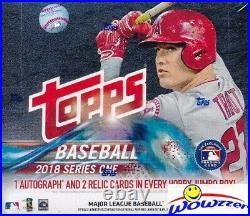 2018 Topps Series 1 Baseball MASSIVE Factory Sealed HOBBY JUMBO Box-3 AUTO/RELIC