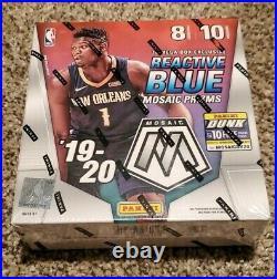 2019-20 Panini Mosaic Basketball MEGA BOX Reactive Blue Prizm FACTORY SEALED