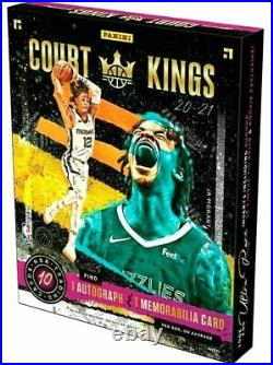 2020-21 Panini Court Kings Basketball Factory Sealed Hobby Box