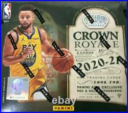 2020-21 Panini Crown Royale Basketball Asia Tmall Factory Sealed Box 6 Cards/box