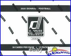 2020 Donruss Football Factory Sealed JUMBO FAT Pack Box-360 Cards! 48 Parallels