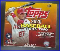 2020 Topps Jumbo Series 2 Factory Sealed Hobby Baseball Card Box & 2 Silver Pack