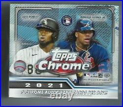 2021 Topps Chrome Baseball Sealed JUMBO Hobby HTA Box 5 Autos Factory Sealed