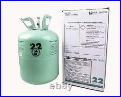 30 lb. New R-22 Virgin Refrigerant FACTORY SEALED FAST SAME DAY SHIPPING BY 3PM