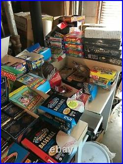 50 VINTAGE UNSEARCHED BASEBALL CARD LOT in UNOPENED FACTORY SEALED PACKS