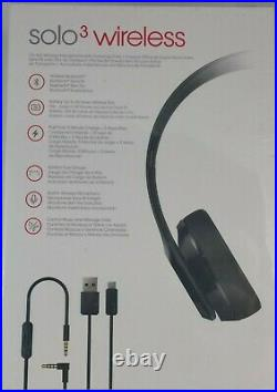 Beats by Dr. Dre Solo3 Wireless On-Ear Headphones Black MNEN2LL/A FACTORY SEALED