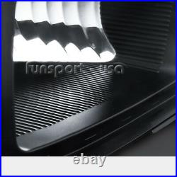 Black For 2007-2013 GMC Sierra 1500 2500 3500 Headlights Headlamps Left+Right US