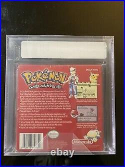 Brand New Factory Sealed Pokemon Red Version Game Boy VGA Graded 80 Silver Rare