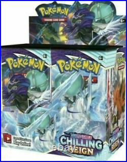 Chilling Reign Pokemon Booster Box Factory Sealed