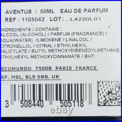 Creed Aventus Men 50ml 1.7oz 20l01 Edp Authentic Factory Sealed New Retail Box