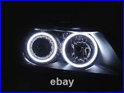 DEPO Factory Seal LED Angel Halo Headlight + Clear Corner For 06-08 BMW E90/E91