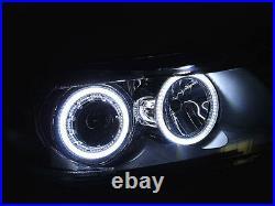 DEPO Factory Seal LED Angel Halo Headlight + Clear Corner For 09-11 BMW E90/E91