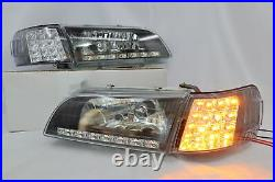 FRONT LED HEADLIGHT & Corner Light FOR TOYOTA COROLLA AE100 E100 WAGON 93-97