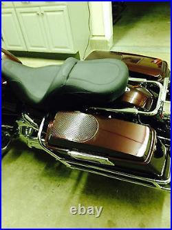 Fairing Factory CVO Style 6 x 9 Speaker Lids for 93-13 Harley Touring Saddlebags