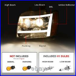 For 07-14 Chevy Suburban/Tahoe LED TUBE DRL Projector Headlight/Lamp Assembly