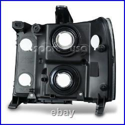 For 2007-2013 GMC Sierra 1500 2500HD 3500HD Headlights Chrome Clear Replacement