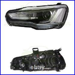 For Mitsubishi Lancer EVO 2008-2017 LED DRL Headlights Headlamp Audi A5 Style