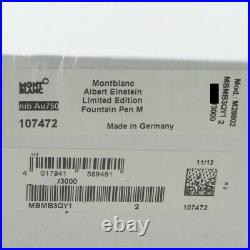 Montblanc Great Characters Albert Einstein FP M XXXX/3000 Factory Sealed