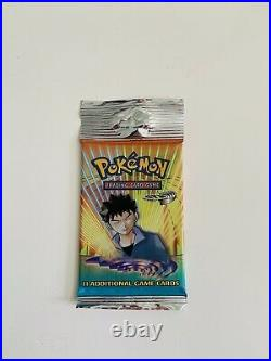 Pokemon (1) Gym Heroes Booster Pack Factory Sealed WOTC 1 Pack Free Shipping