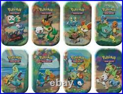 Pokemon Celebrations Mini Tin Display (8 tins) Factory Sealed ships 10/8