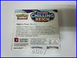 Pokemon Chilling Reign Booster Box In Hand Factory Sealed GilbertGames Ship Fast