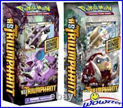 Pokemon HS Heartgold & Soulsilver Triumphant FACTORY SEALED Theme Deck Set of 2