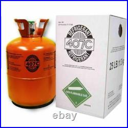 R407C-Refrigerant 25 Pound 407C FACTORY SEALED with oil R22 Replacement R 22