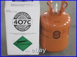 R407C-Refrigerant -25 lb Cylinder LOWEST PRICE ON EBAY FACTORY SEALED USA