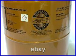 R407C Refrigerant 25 lb Cylinder R-407c FACTORY SEALED R22 Replacement