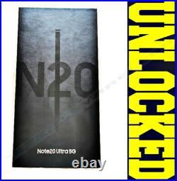 SAMSUNG NOTE 20 ULTRA 5G N986U1 128GB Mystic Black (FACTORY UNLOCKED) SEALED