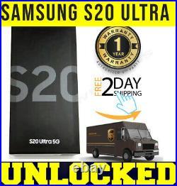 Samsung Galaxy S20 Ultra 5g G988u1 128gb Cosmic Black (factory Unlocked) Sealed