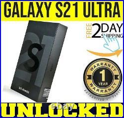 Samsung Galaxy S21 Ultra 5g G998u1 128gb Phantom Black (factory Unlocked) Sealed