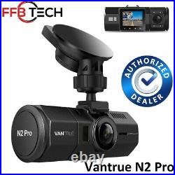 Vantrue N2 PRO-Dual Dash Cam-Infrared Night Vision 256GB Support-Factory Sealed