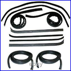 Window Channel & Felt Sweep Belt & Door Seal Kit for 73-79 Ford Pickup Truck 10p